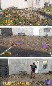 Before and After Photo of the exterior landscaping of HRRN